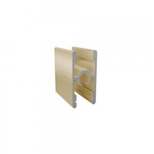 Профиль двухсторонний со стяжкой золото браш 5,9