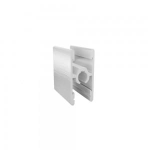 Профиль двухсторонний со стяжкой серебро браш 5,9