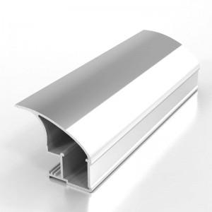 Профиль вертикальный L NEW ПРЕМИАЛ серебро хим. полировка 5,4