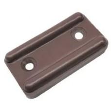 1063 Подпятник накладной с боковиной коричневый