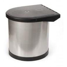 1750 Ведро для мусора 8л хром (103204)