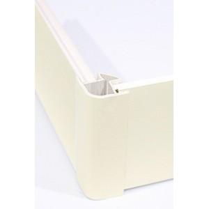3119 Соединение цоколя 4м 100мм 90*(внешнее) пластик, ваниль