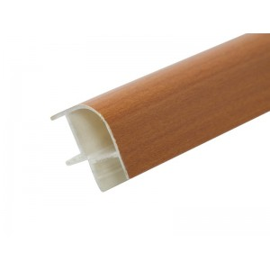 3117 Соединение цоколя 4м 100мм 90*(внешнее) пластик, вишня