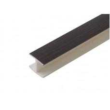3122 Соединение цоколя 4м 100мм 180* пластик, венге