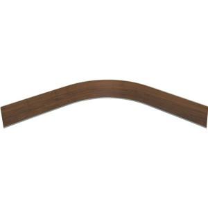 3146 Закругление цоколя (универсальное) 100мм 1,0м пластик, орех темный