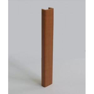 3166 Торцевая заглушка цоколя 4м 100мм пластик,вишня
