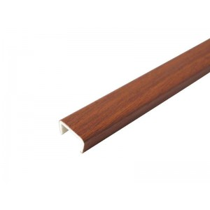 3168 Торцевая заглушка цоколя 4м 100мм пластик,орех итальянский