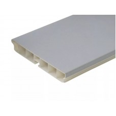 3148 Кухонный цоколь Н100мм,  4м, пласт. алюминий гладкий