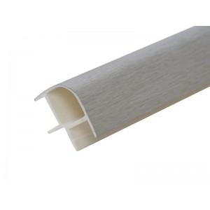 3111 Соединение цоколя 4м 100мм 90*(внешнее) пластик,  алюминий шлифованный