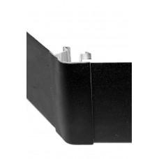 3189 Соединение цоколя 4м 100мм 90*(внешнее) пластик, черный