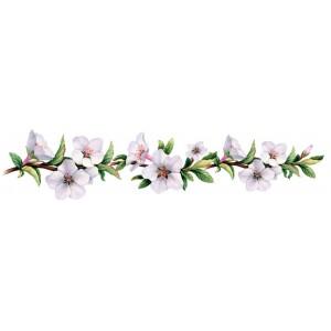 "Панель FR17 ""Белые цветы на ветке"" 2800*610*4мм"