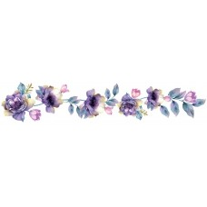 """Панель FR18 """"Синие цветы на ветке"""" 2800*610*4мм"""