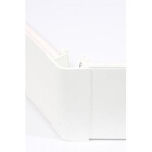 Угол цоколя 3.2м 150мм 135гр. декор белый глянец