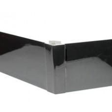 Угол цоколя 3.2м 150мм 135гр. декор черный глянец