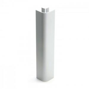 3114 Соединение цоколя 4м 100мм 90*(внешнее) пластик, белый