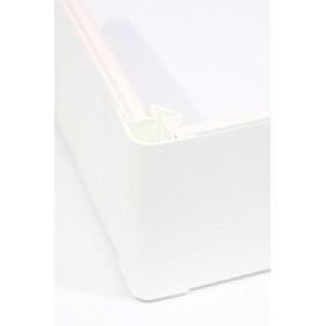Угол цоколя 3.2м 150мм 90гр. декор белый глянец