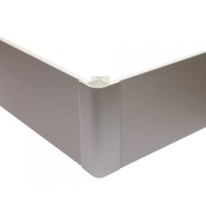 Угол цоколя 3.2м 150мм 90гр. декор титан