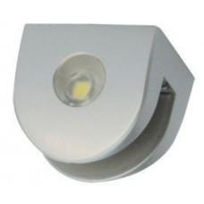9127 Полкодержатель с подсветкой серебро 2.1.1