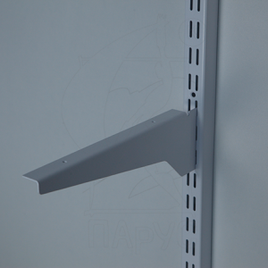 9941 Кронштейн для полки ЛДСП усиленный 250мм правая/левая(комплект) (Белый)