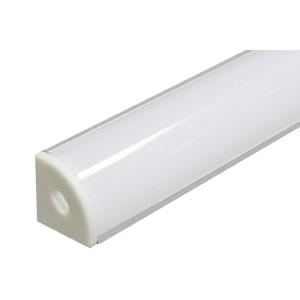3884 Профиль угловой овальный для светодиода 2000х16х16 SP280 Ам