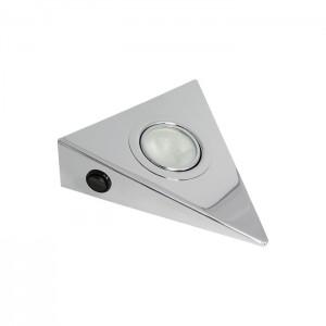 2040 Светильник FT9251Треугольник нержав хром выключатель Ам/ГЛС