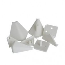 1144 Комплект заглушек для пластм. плинтуса, серый (для арт. 929)