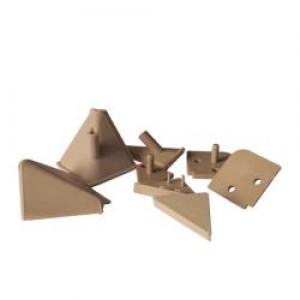 1118 Комплект заглушек к алюмин. плинтусу бежевый (коричневый)