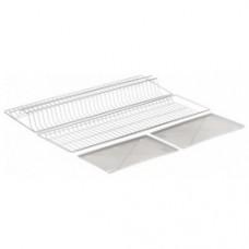 1012 Комплект посудосушителя с 2 поддонами (412х256) белый 900мм