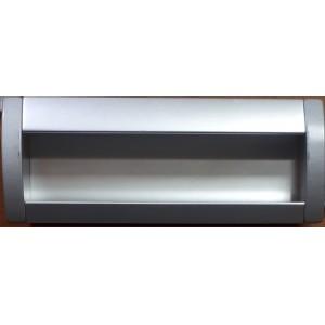 1326 Ручка алюминий врезная матовая 128мм (ширина ручки 55мм)
