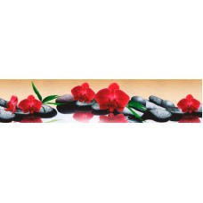 Панель ASP13 Красные орхидеи 2800*610*6мм