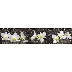 Панель ASP14 Орхидеи на чёрном 2800*610*6мм