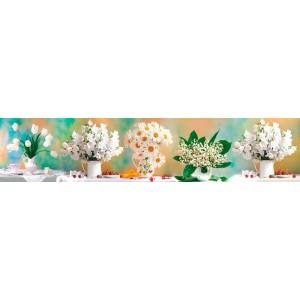 Панель ASP16 Белые цветы 2800*610*6мм
