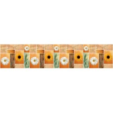 Панель F02 Плитка с герберами 2800х610х6мм