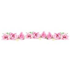 Панель F28 Розовые эустомы 2800х610х6мм