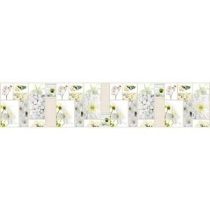 Панель AF27 Белые цветы 2800х610х6мм