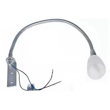 2043 Светильник гибкий хром стекл.плаф с ламп Ам