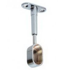 1200 Штангодержатель на ножке 30х15 регулируемый глухой хром