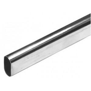 847 Штанга 30х15мм 3м сталь овальная хром т.0,8мм