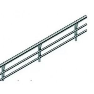 3748 Рейлинг-барьер StaraxS (400х15х65) хром