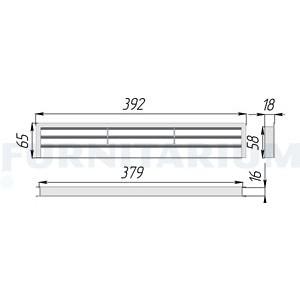 4014 Решетка вентиляции Вишня д40мм МП