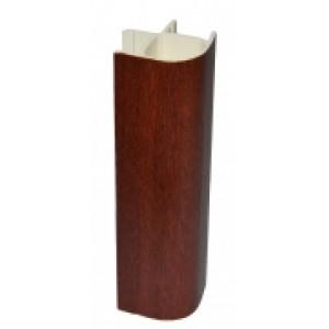 3115 Соединение цоколя 4м 100мм 90*(внешнее) пластик. орех итальянский