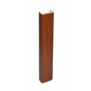 3169 Торцевая заглушка цоколя 4м 100мм пластик,орех темный