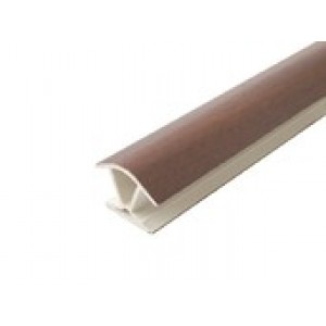 3176 Соединение цоколя 4м 100мм 135*(универсальное) пластик,орех итальянский