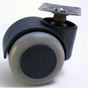 2067 Опора колесная D-50мм на резиновом ходу/140