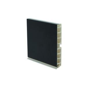 3640 Цоколь кухонный 4м черный с силиконом100мм