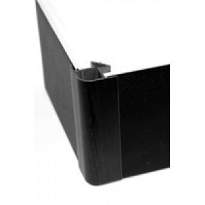 Угол цоколя 3.2м 150мм 90гр. декор черный глянец