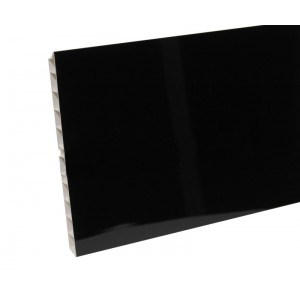 Цоколь кухоный 3,2м 150мм черный глянец (с уплотн)