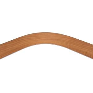 Закругление цоколя (универсальное) 100мм 1,0м пластик,орех миланский