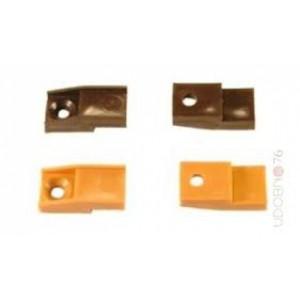 10080 Стеклодержатель пластиковый светло-коричневый