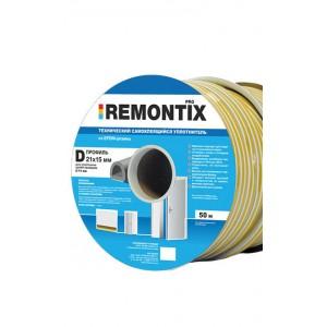 0605 Уплотнитель Remontix D40 14x12мм белый 1 коробка 240м